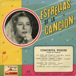 Conchita Piquer - Vintage Spanish Song Nº25 - EPs Collectors (1956)